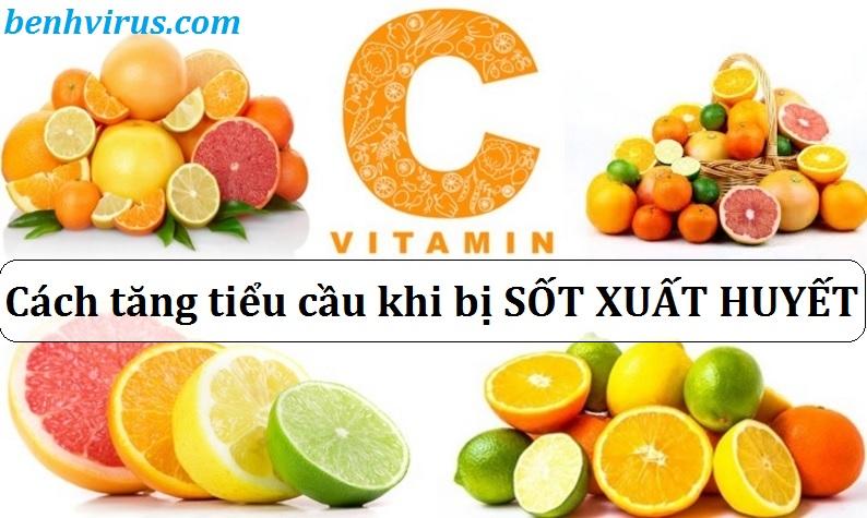 Nên bổ sung thực phẩm chứa nhiều vitamin C khi bị sốt xuất huyết gây giảm tiểu cầu